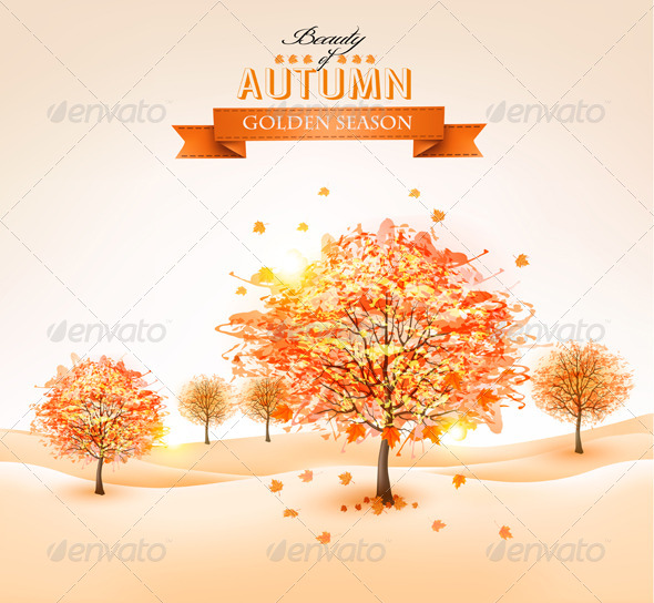 GraphicRiver Autumn Background 8677213