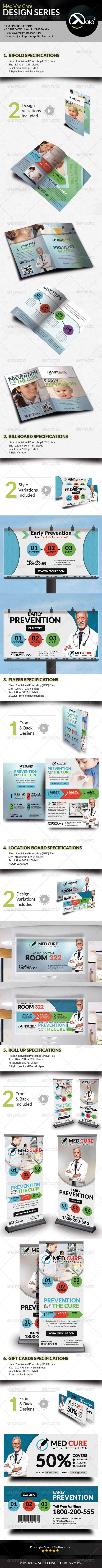 GraphicRiver Med Vac Cure Health Care Design Series Bundle 8677250
