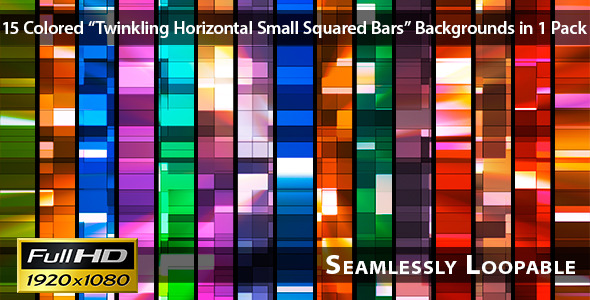 Twinkling Horizontal Small Squared Bars Pack 03