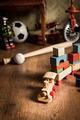 Wooden train in children's room - PhotoDune Item for Sale