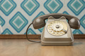Vintage telephone on diamond wallpaper - PhotoDune Item for Sale
