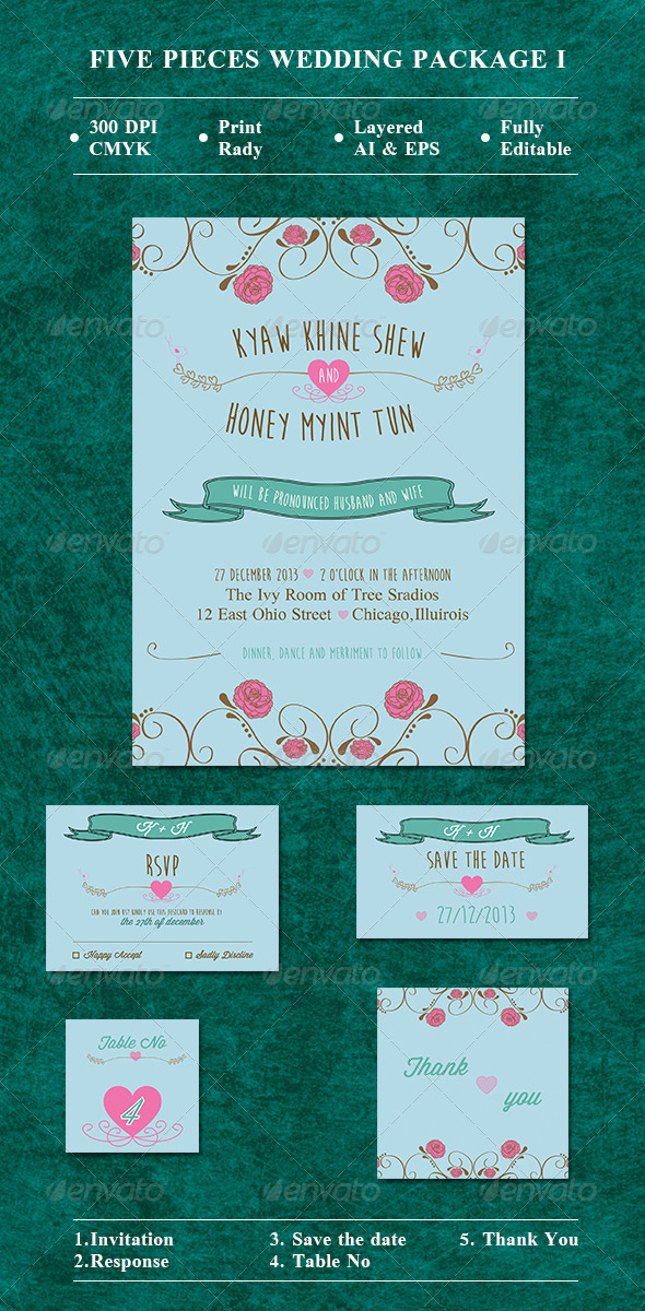 GraphicRiver Wedding Package I 8646558