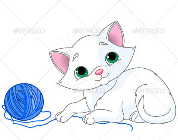GraphicRiver White Kitten 8677457