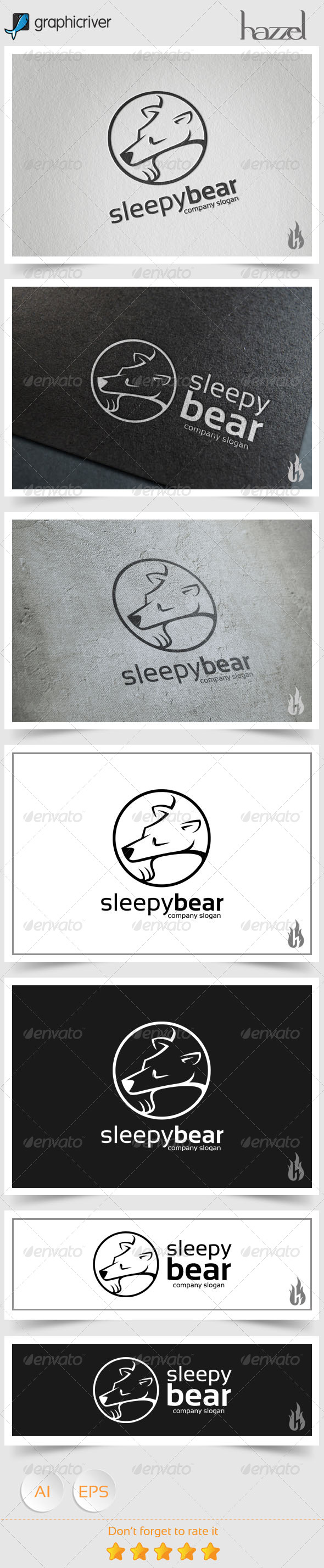 GraphicRiver Sleepy Bear II Logo 8677466