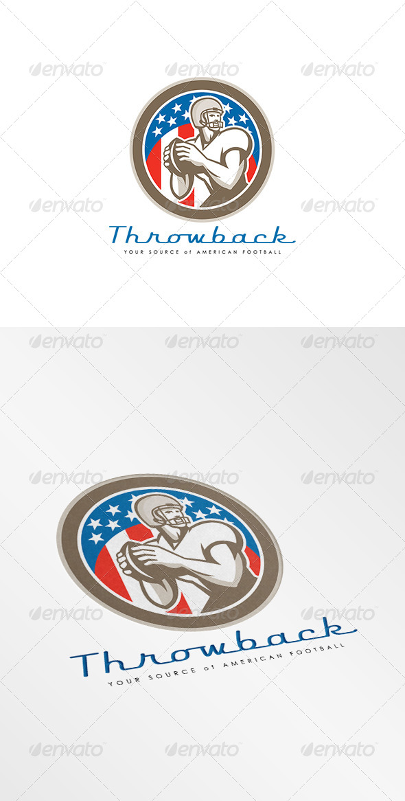 GraphicRiver Throwback American Football Logo 8677534