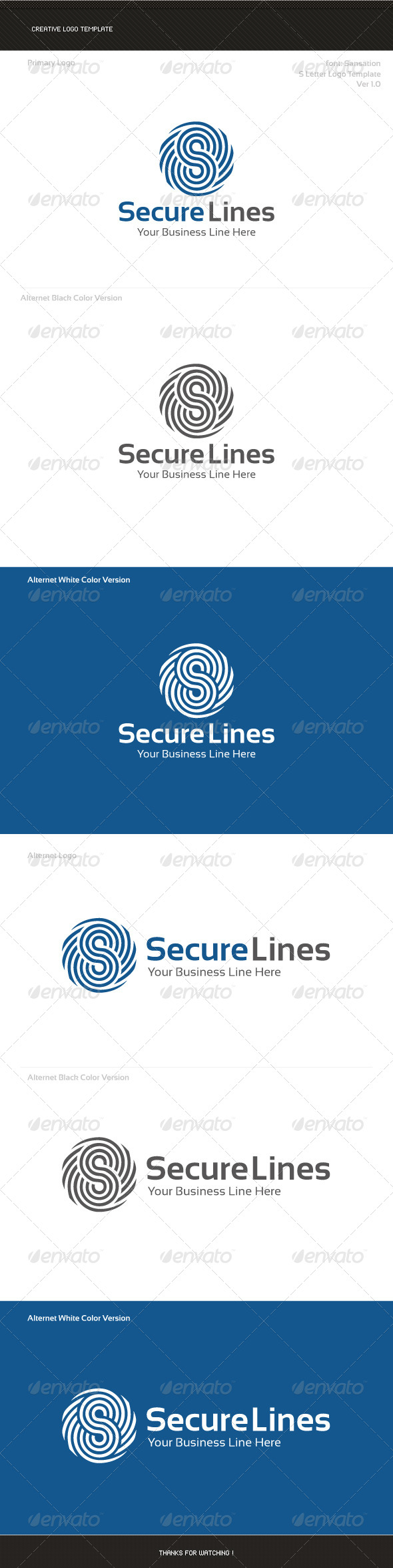 GraphicRiver S Letter Logo Template 8677589