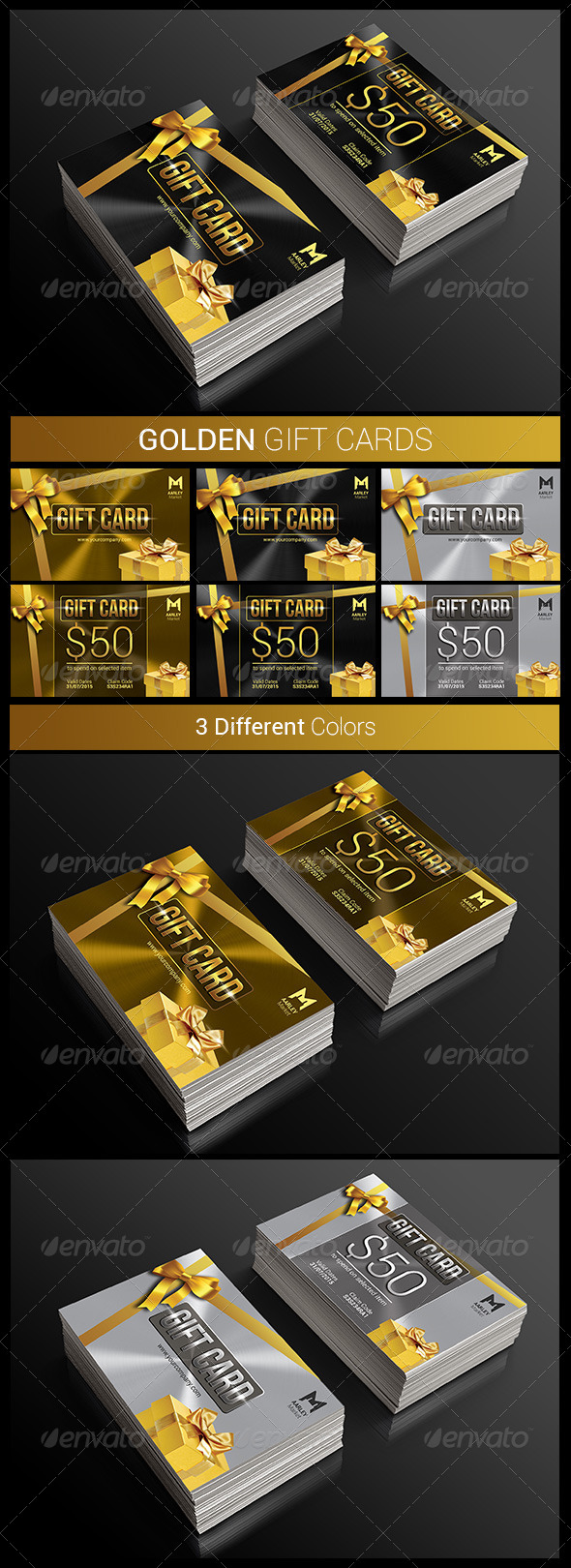 GraphicRiver Golden Gift Cards 8677620