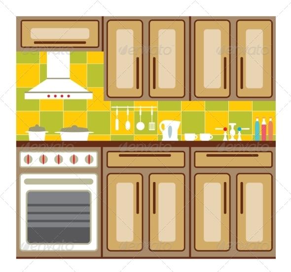 GraphicRiver Kitchen Furniture 8677652