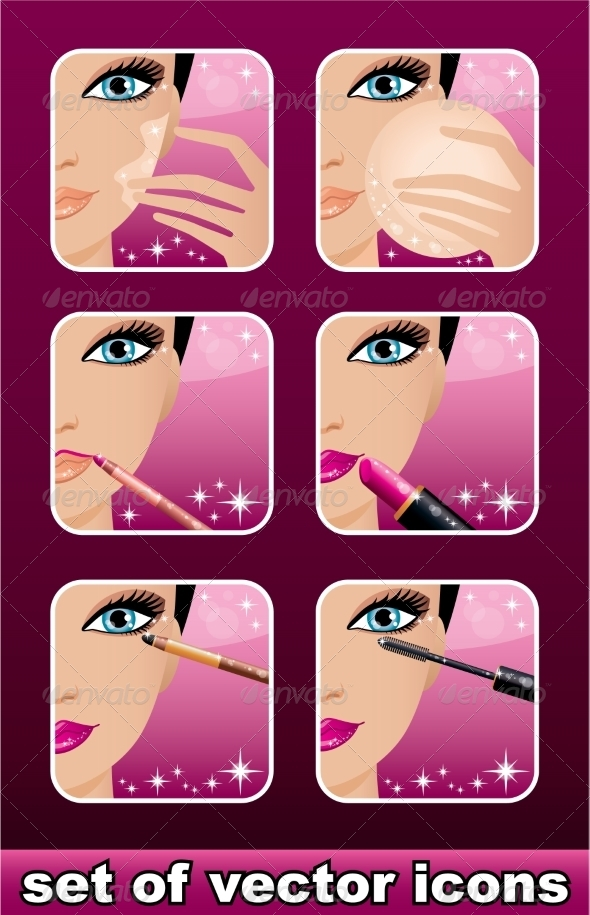 GraphicRiver Makeup Icons 8677852