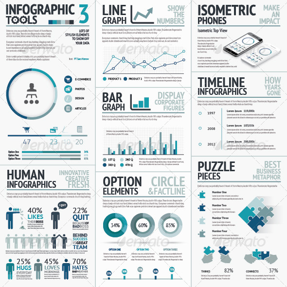GraphicRiver Business Vector Elements for Data Visualization 8678197