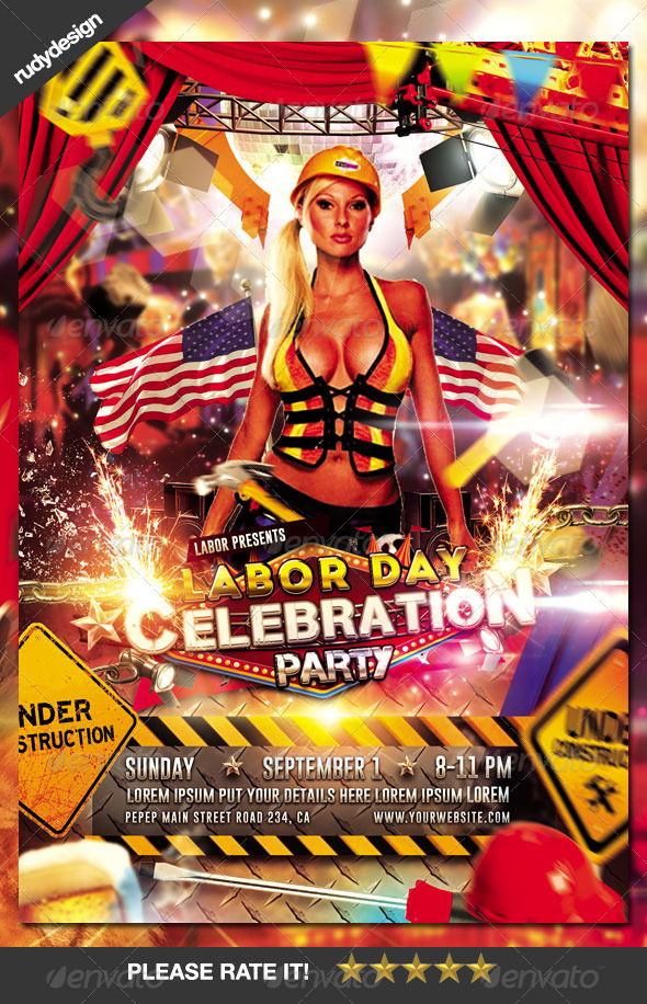 GraphicRiver Labor Day Memorial Day Party Flyer Design 8678318