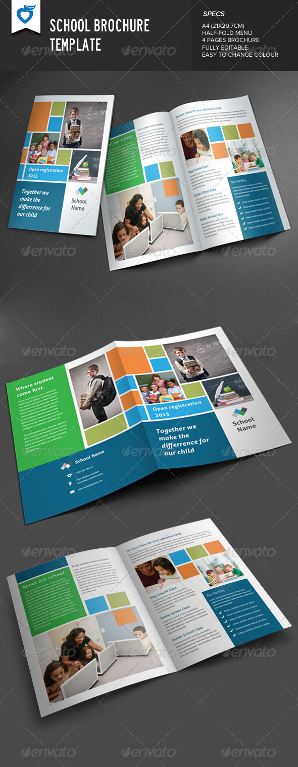 GraphicRiver School Brochure 8678384