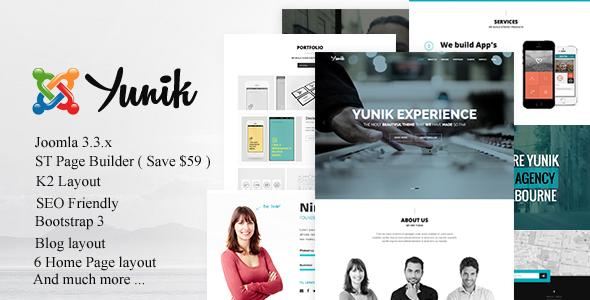 Yunik - Stylish Responsive Joomla! 3.X Template - Creative Joomla