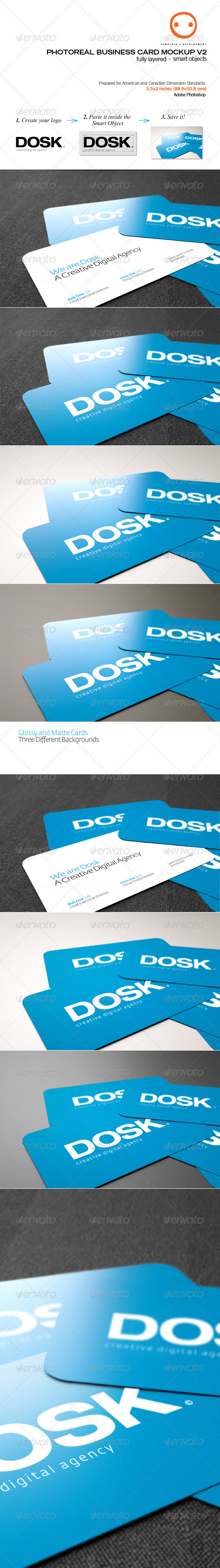 Photoreal Business Card Mockup V2 - Business Cards Print