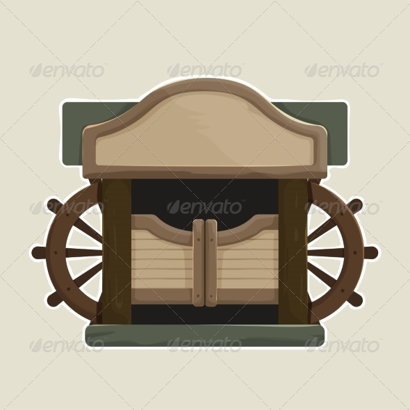 GraphicRiver Cartoon styled Old Western Swinging Saloon Doors 8678522