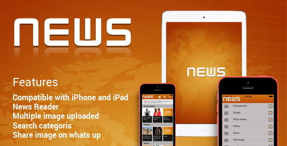 CodeCanyon News Application iOS 8678533