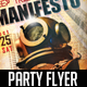 Manifesto Club Flyer - GraphicRiver Item for Sale