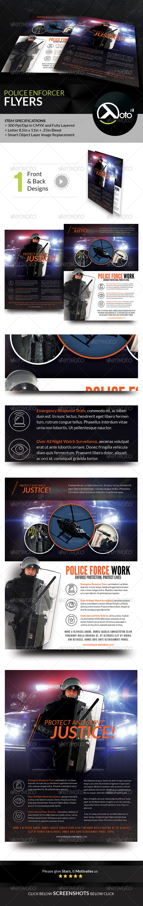 GraphicRiver Police Enforcer Protect and Serve Flyers 8678571