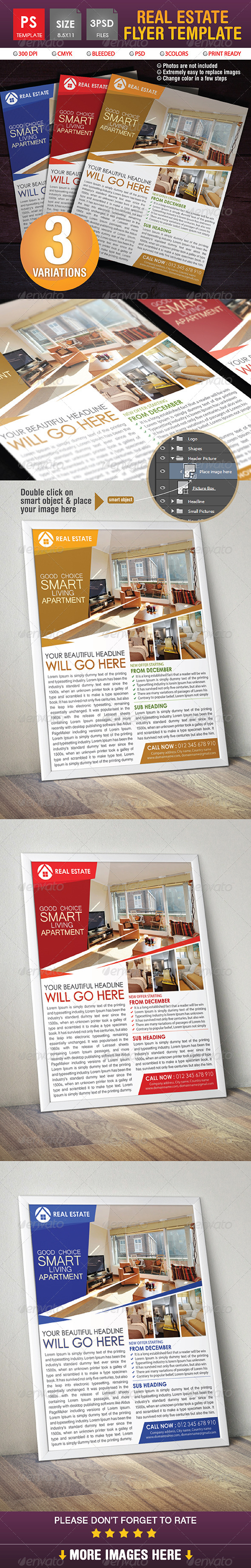 GraphicRiver Real Estate Flyer Template 8678858