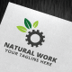 Natural Work Logo Template - GraphicRiver Item for Sale
