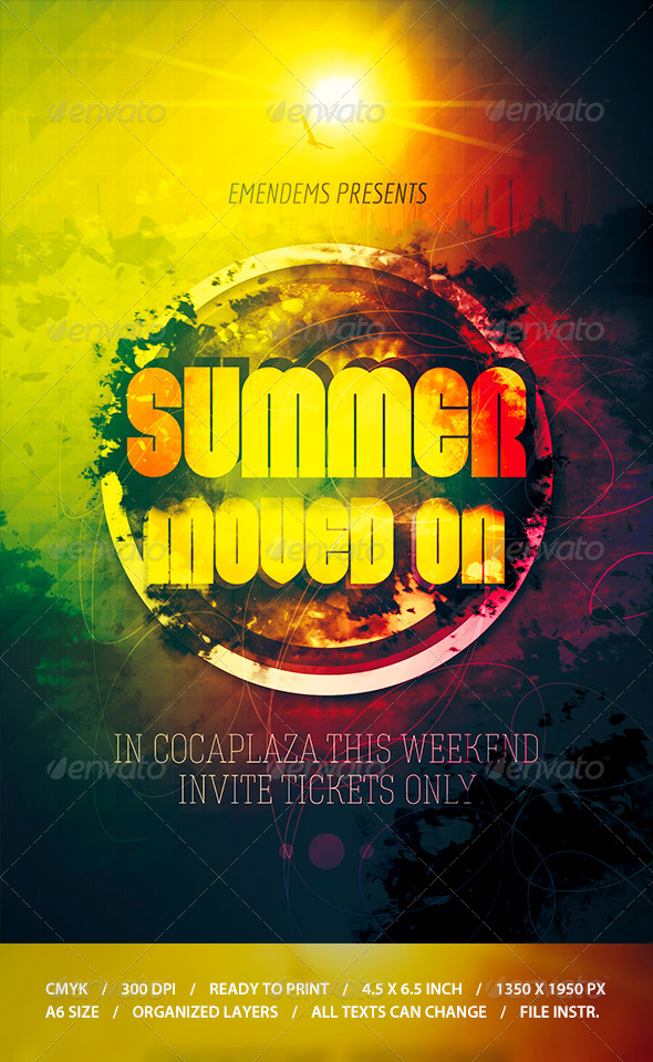 GraphicRiver Summer Moved On Flyer Template 8679060