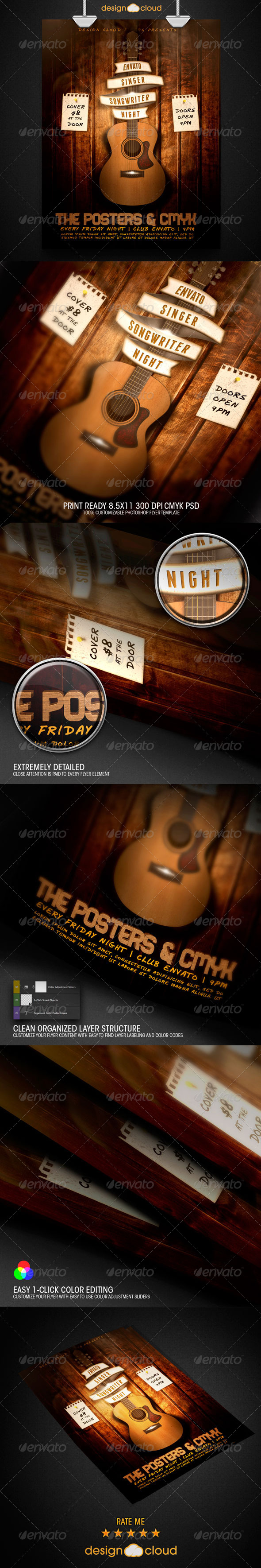GraphicRiver Singer Songwriter Night Flyer Template 8679077