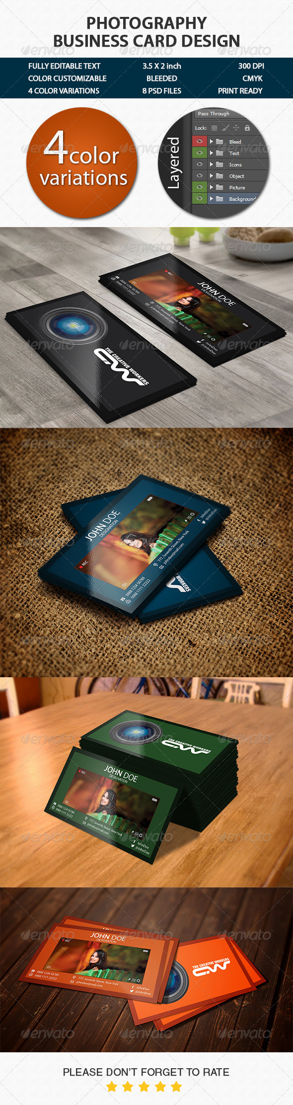 GraphicRiver Photography Business Card 8631186