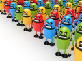 Crowd of colorful robots - PhotoDune Item for Sale