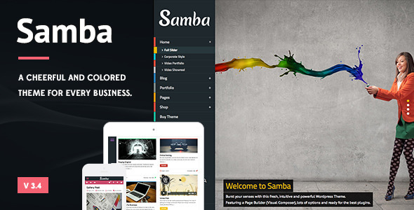 Samba - Colored Wordpress Theme - Creative WordPress