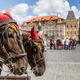 Horse Carriage waiting for tourists at the Old Square in Prague. - PhotoDune Item for Sale