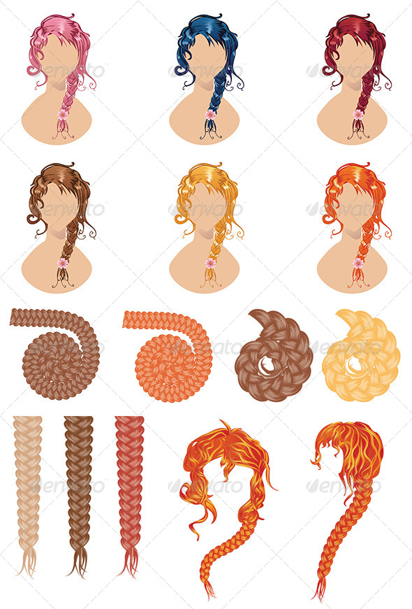 GraphicRiver Braided Hair Style 8679176