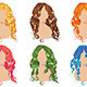 Curly Hair Styles - GraphicRiver Item for Sale