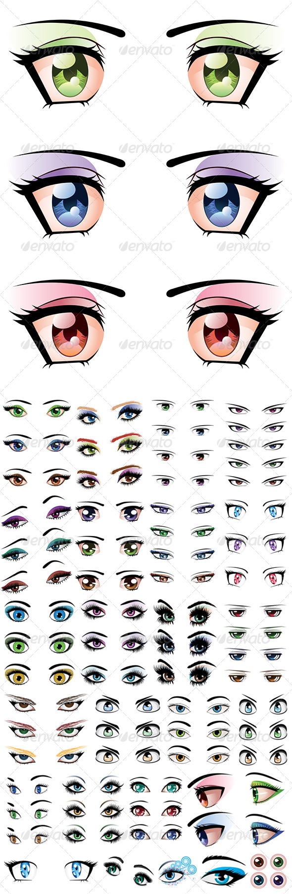 GraphicRiver Set of Eyes 8679187