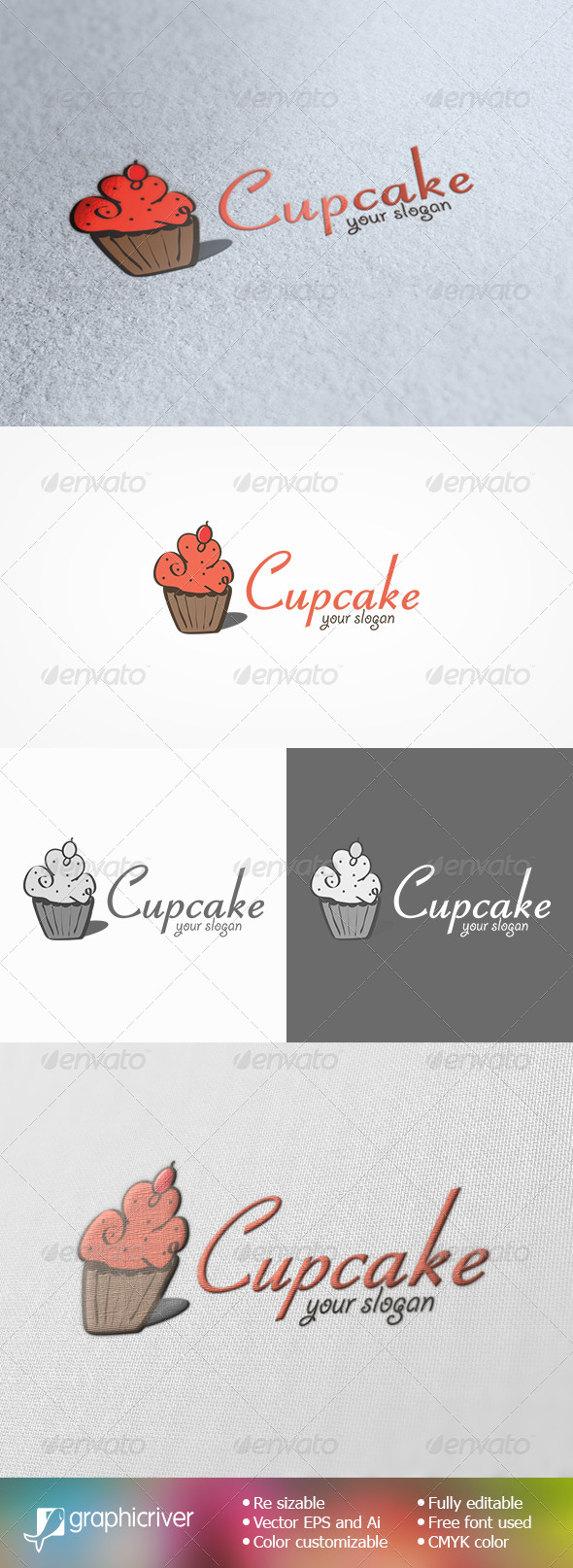 GraphicRiver Cupcake Logo Template 8676385