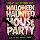 Haunted House Flyer Template PSD
