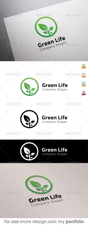 GraphicRiver Green Life logo 8679633