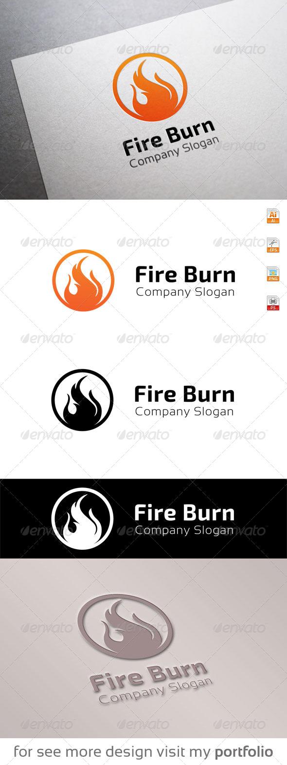 GraphicRiver Fire Burn logo 8679653