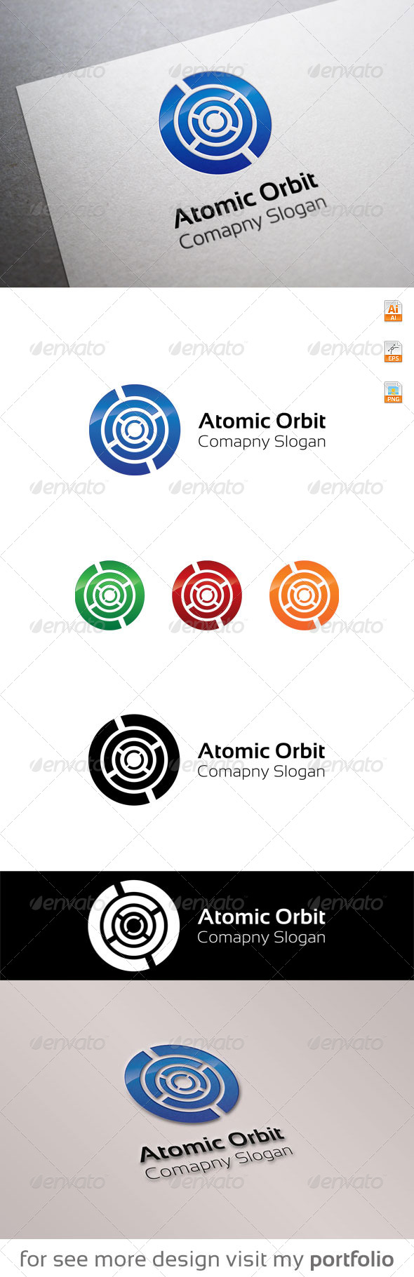 GraphicRiver Atomic Orbit logo 8679674