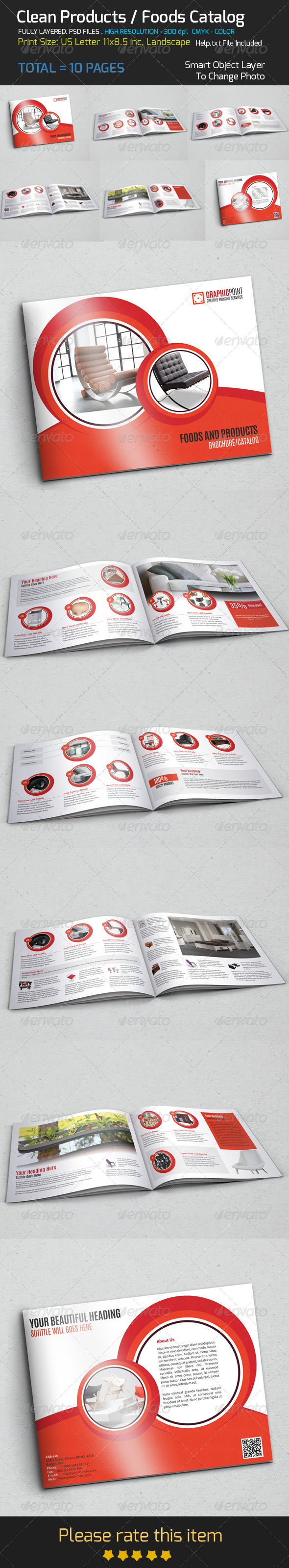 GraphicRiver Clean Products Foods Catalog 8679685