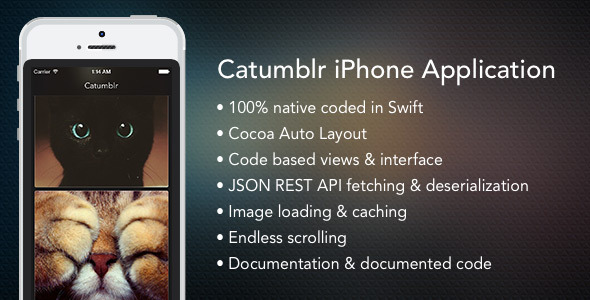 CodeCanyon Catumblr iOS Swift App 8679704
