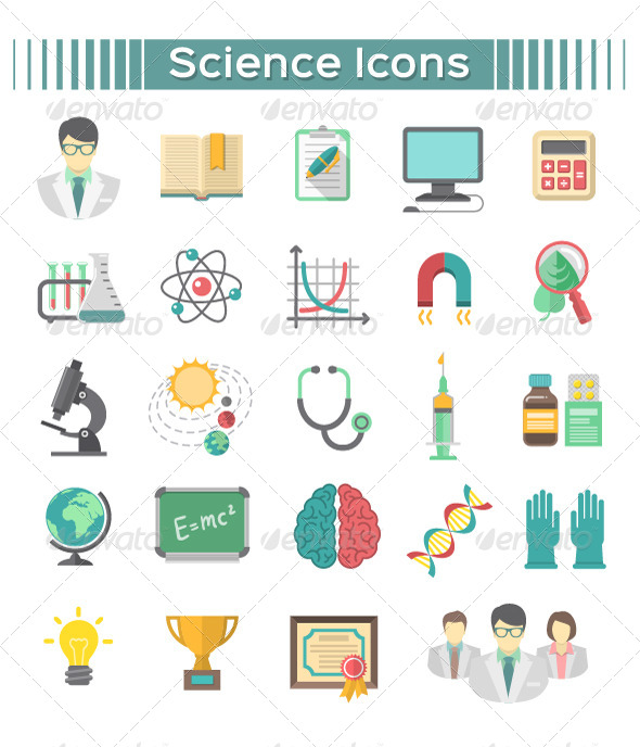 GraphicRiver Science Icons 8679708