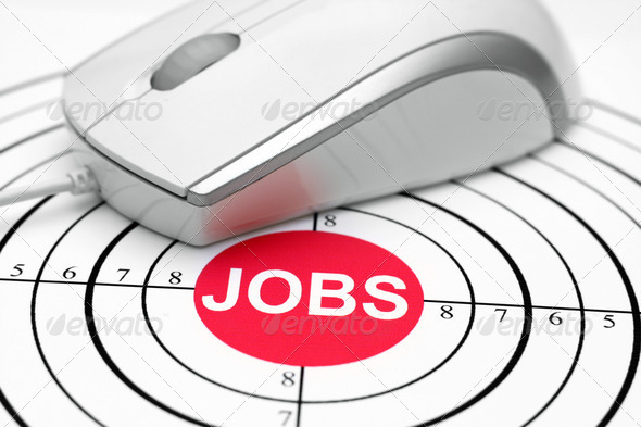 Jobs target - Stock Photo - Images