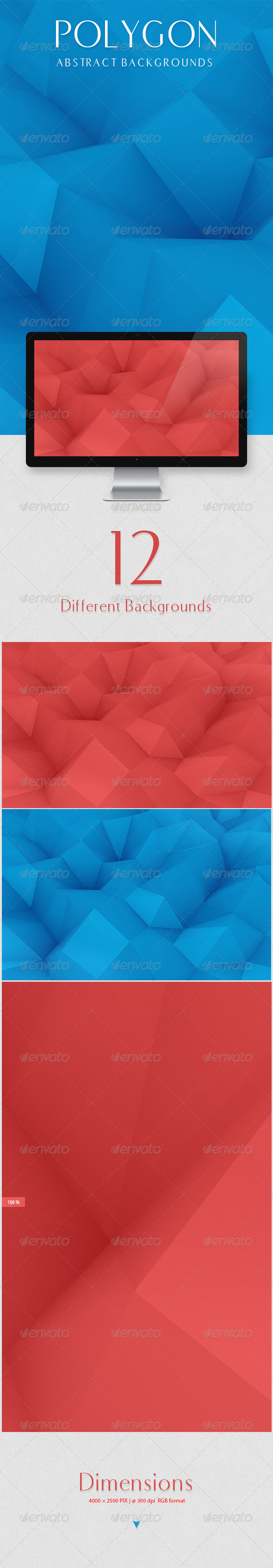 GraphicRiver Polygon Abstract Backgrounds 8679738