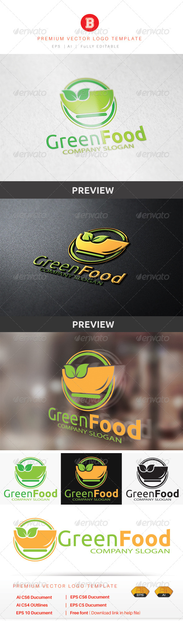 GraphicRiver Green Food 8679759