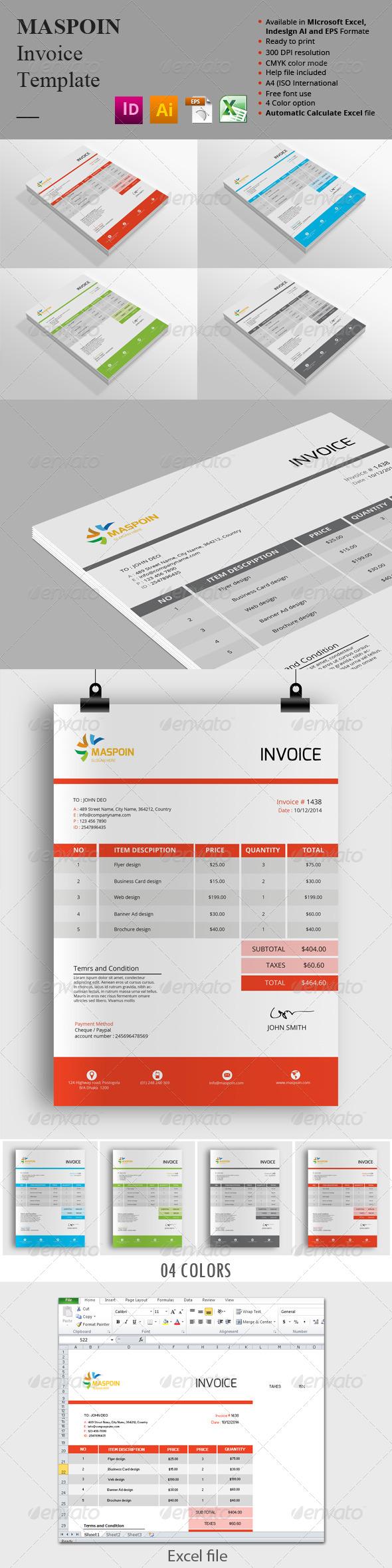 GraphicRiver Maspoin Invoice Templates 8679854