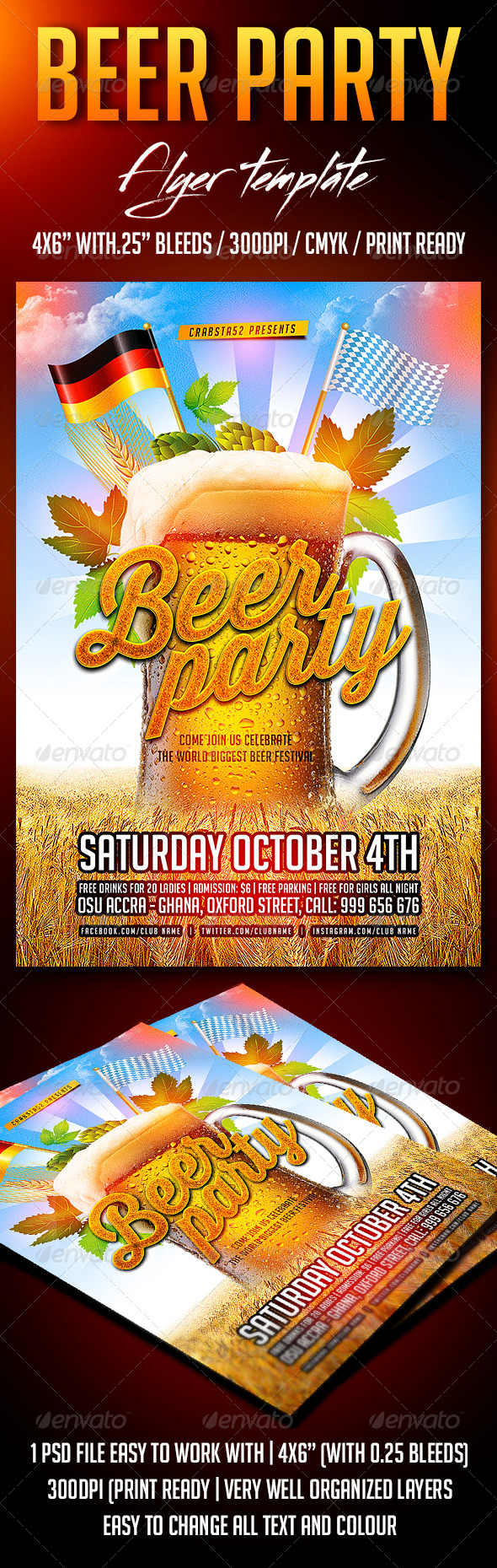GraphicRiver Beer Party Flyer Template 8679856