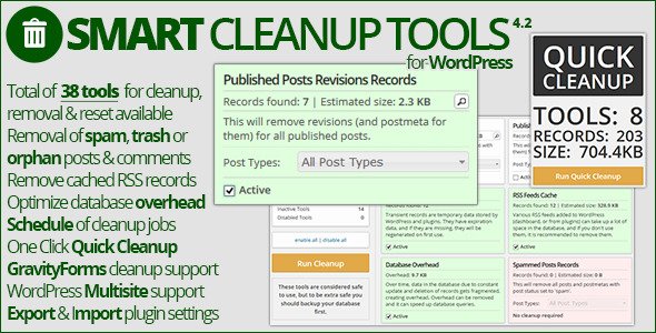 Smart Cleanup Tools - CodeCanyon Item for Sale