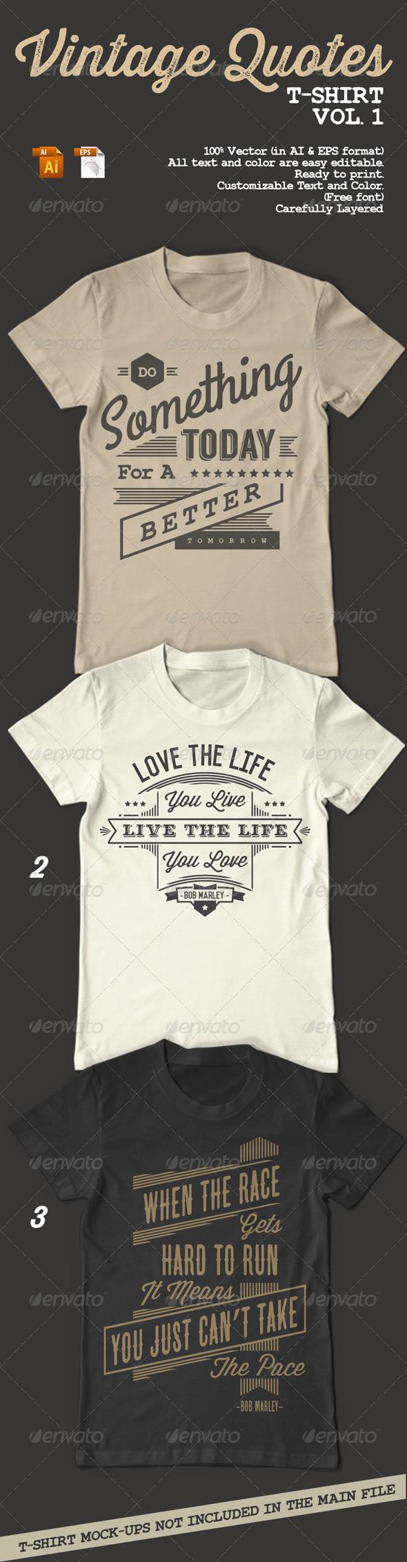 GraphicRiver Vintage Quotes T-Shirt Vol 1 8676587