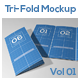 Tri-Fold Brochure Mock-Ups Vol 01 - GraphicRiver Item for Sale