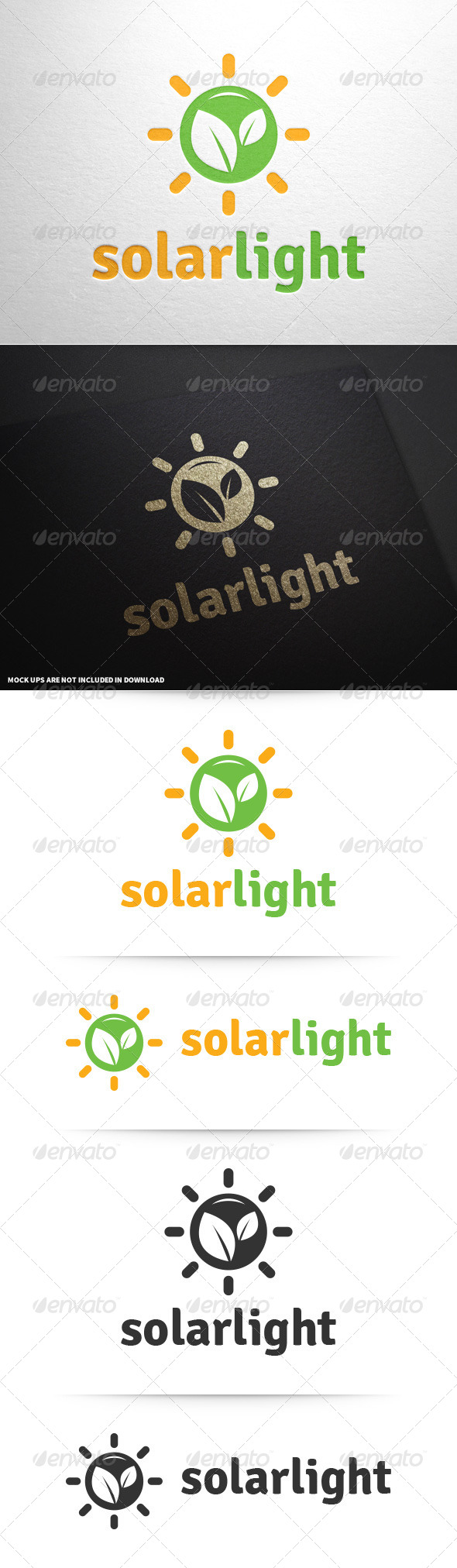 GraphicRiver Solar Light Logo Template 8680089